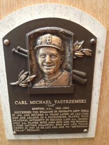 Carl Yastrezemski plaque