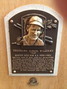 Ted Williams plaque.
